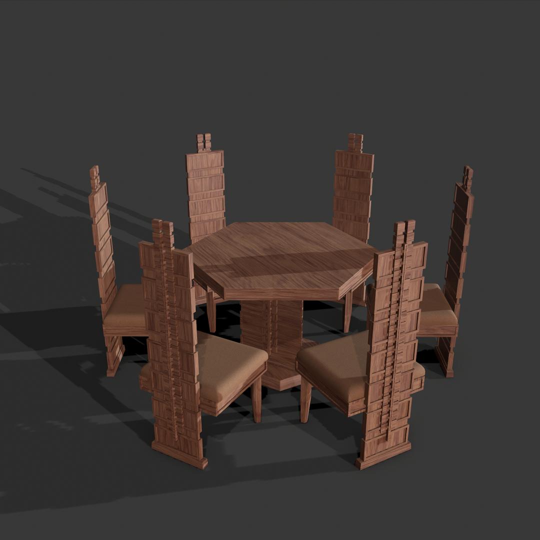 Hollyhock Table (Frank Lloyd Wright) screenshot010 png