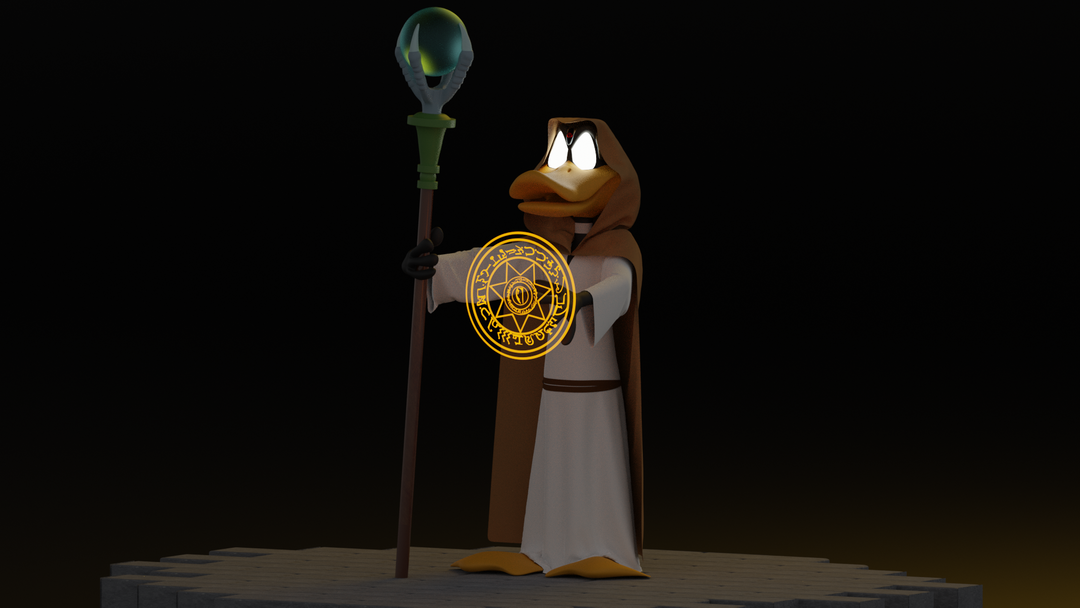 Daffy Duck the wizard Render 02 png