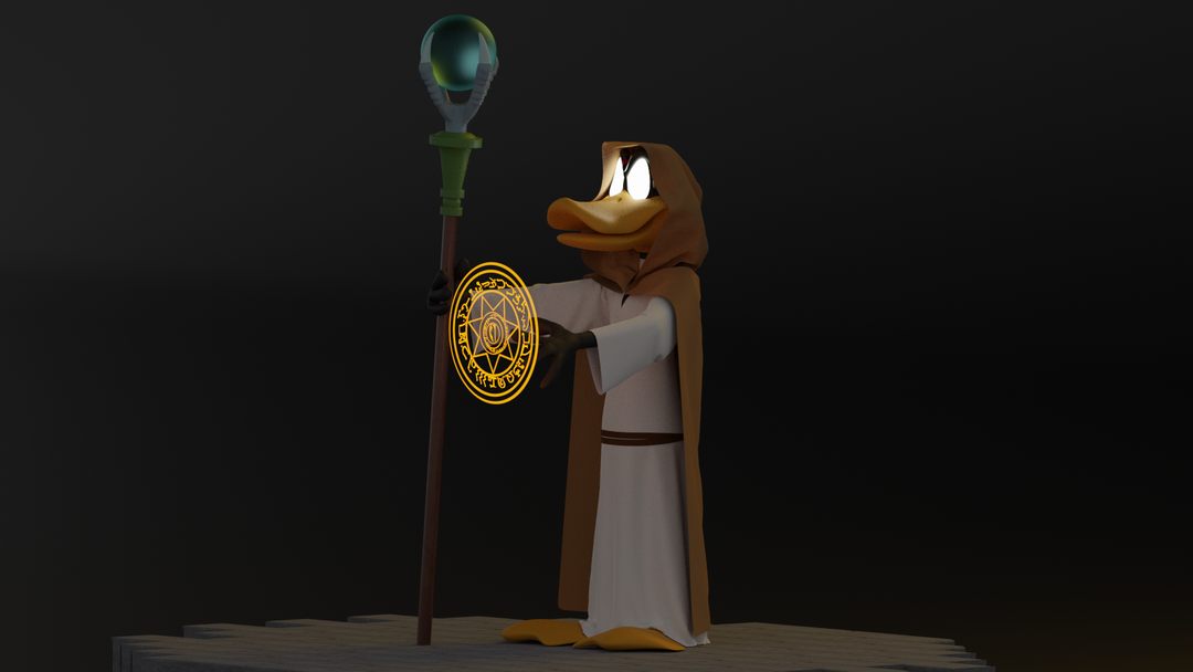 Daffy Duck the wizard Render 03 png