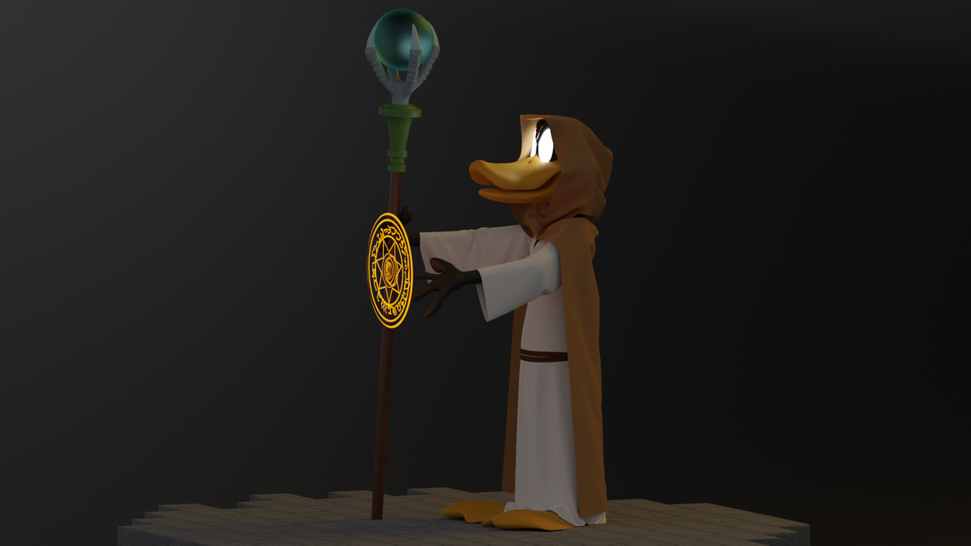 Daffy Duck the wizard Render 04 png