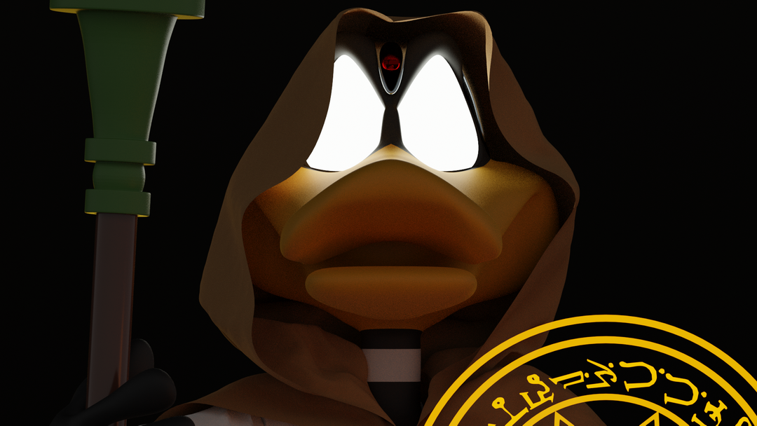 Daffy Duck the wizard Render 19 v2 png