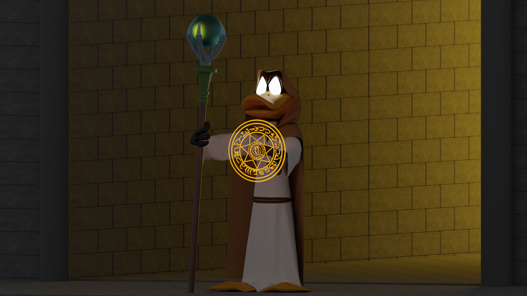 Daffy Duck the wizard Render principal png