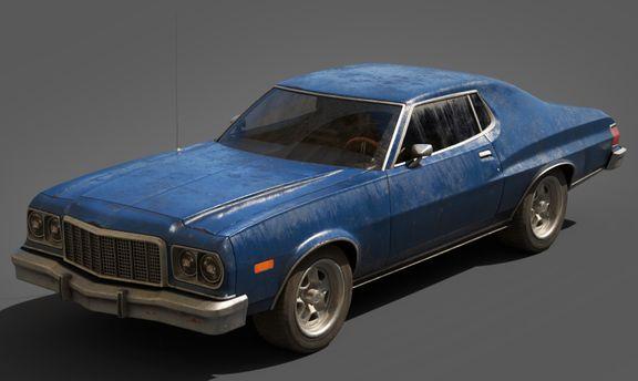 Ford Gran Torino Lowpoly