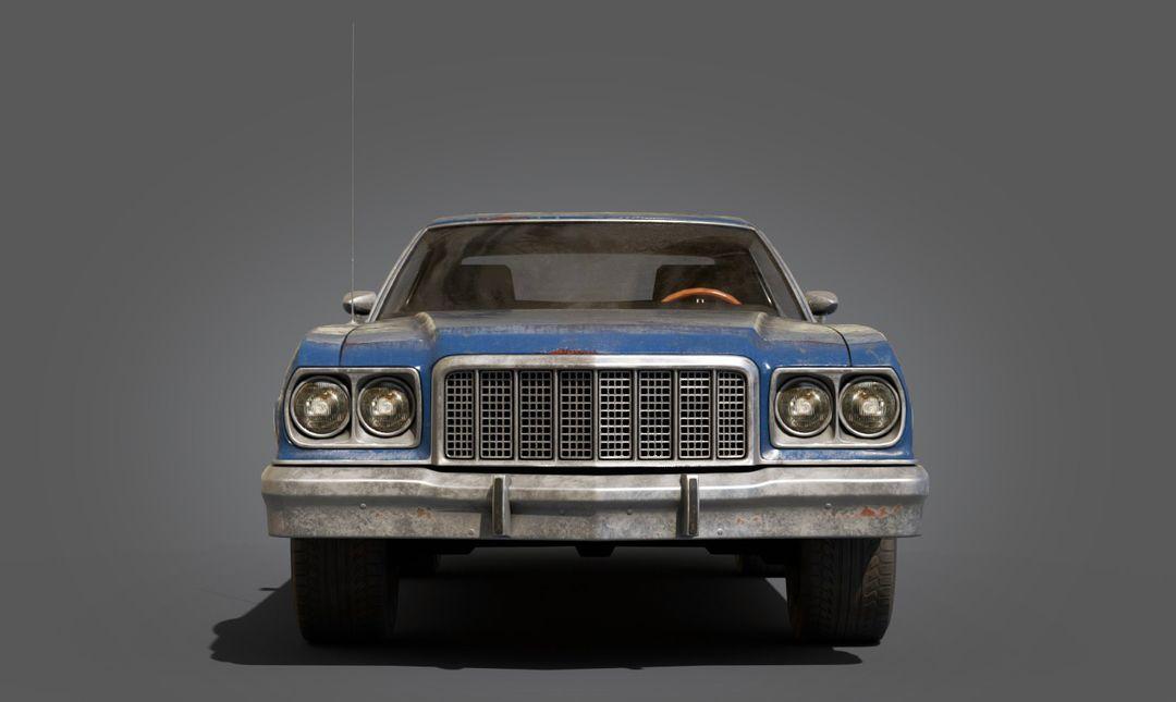 Ford Gran Torino Lowpoly Ford Gran Torino Lowpoly 03 jpg