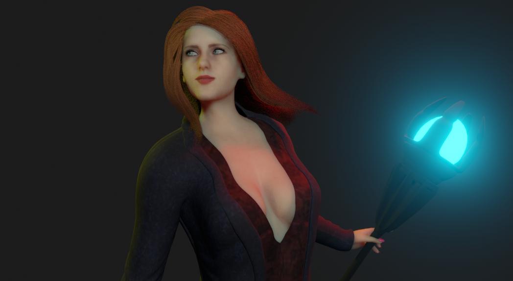 Samantha Sorceress RPG style 1 png
