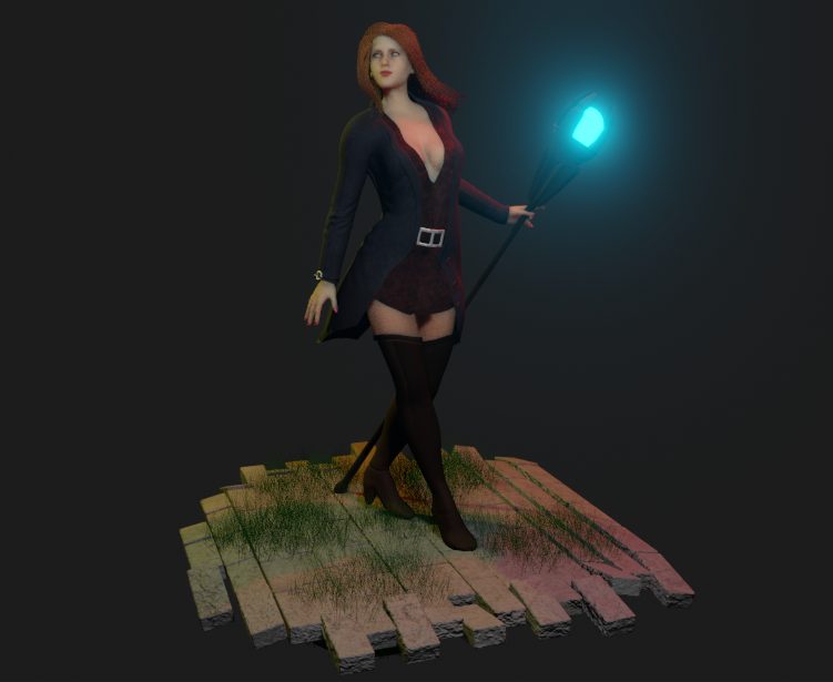 Samantha Sorceress RPG style 2 png