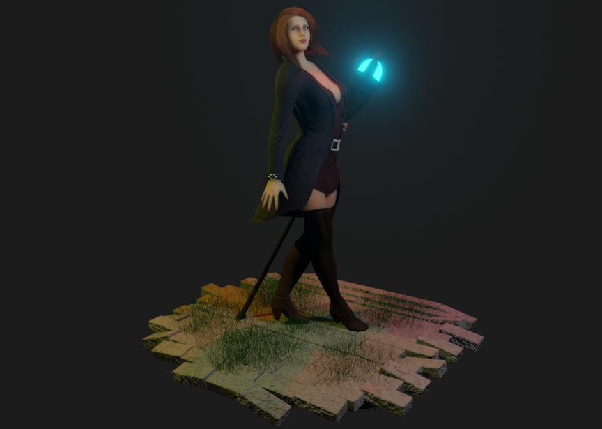 Samantha Sorceress RPG style 3 png