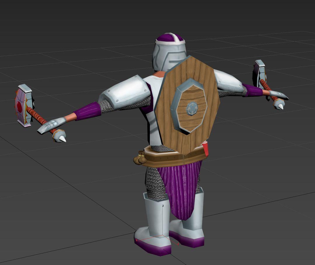 Stylised Game Ready Character matt lake dwarf back jpg