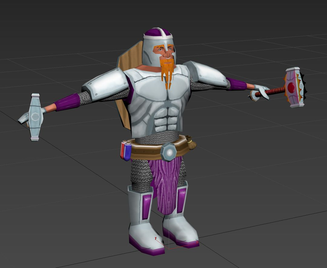 Stylised Game Ready Character matt lake dwarf front jpg
