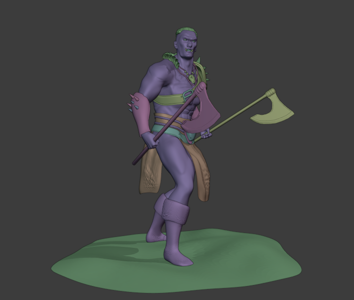 Mountain ORC Orc 8 png