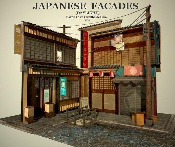 Japanese Facades (daylight)