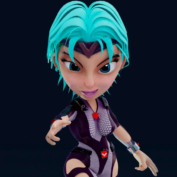 VITRA super hero character 3d