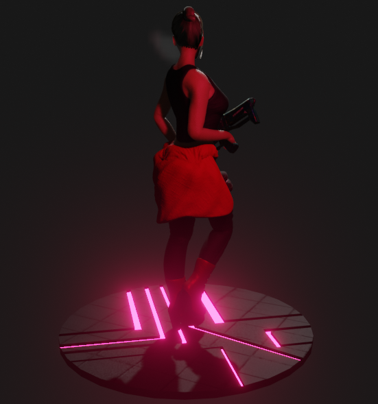 Bex character Cyberpunk style 4 png