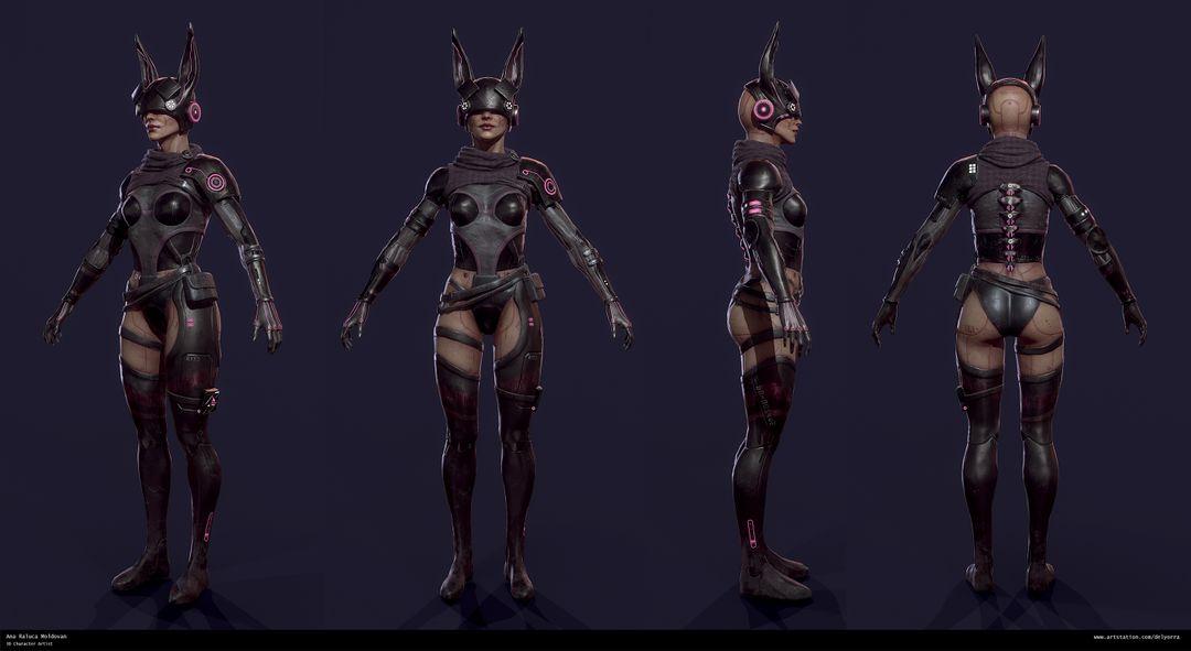 Sci-Fi Bunny Girl Turntable jpg