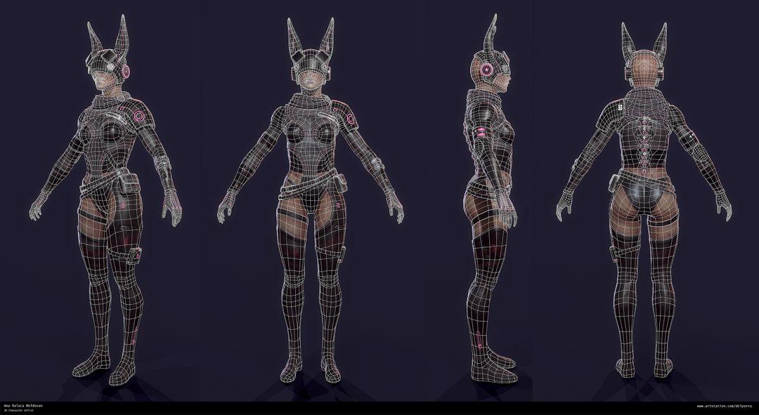 Sci-Fi Bunny Girl Turntable wireframe jpg