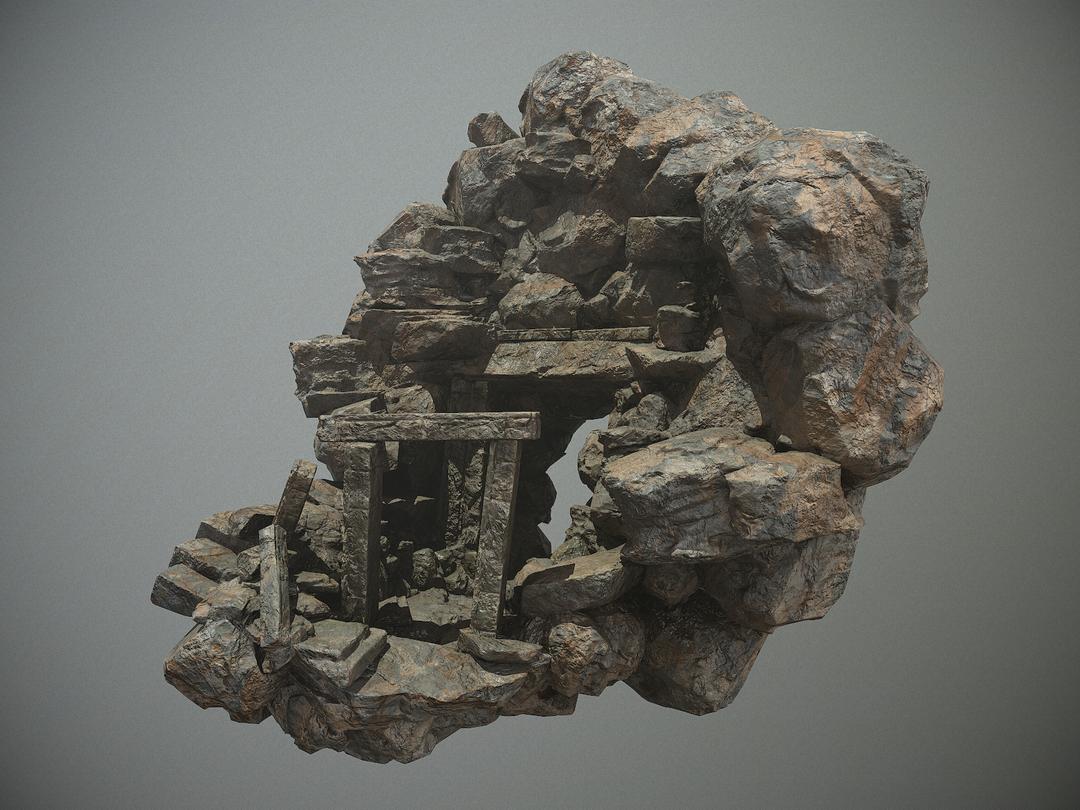 Cave Entrance highend game asset screenshot000 png