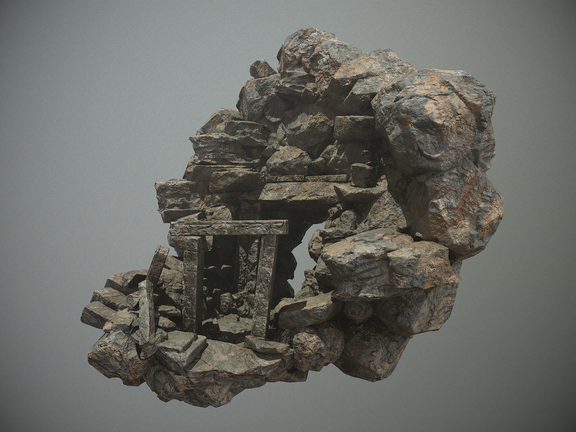 Cave Entrance highend game asset