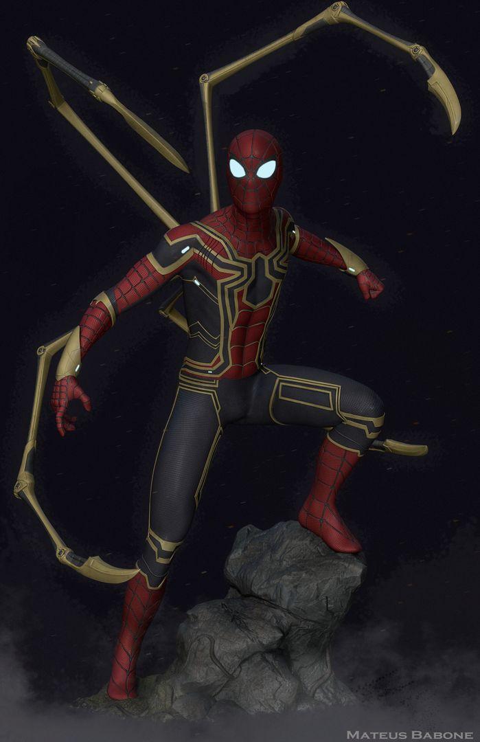 Iron Spider Collectibles Fan Art mateus babone renderfinal2 jpg