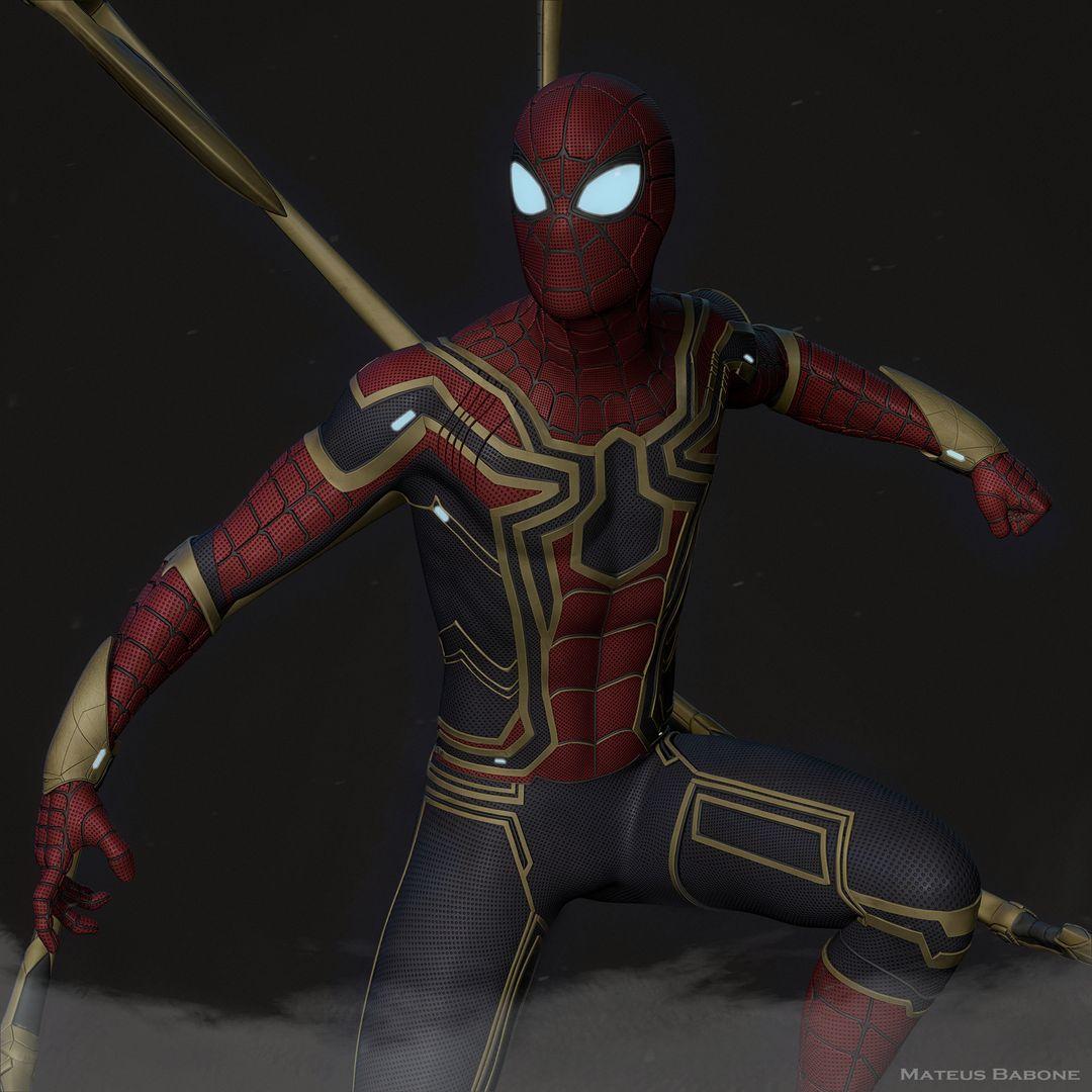 Iron Spider Collectibles Fan Art mateus babone renderzoom jpg
