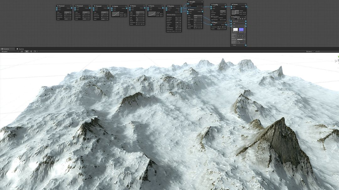 Procedural Winter Mountains in Unity Procedural Winter Mountains 01 jpg