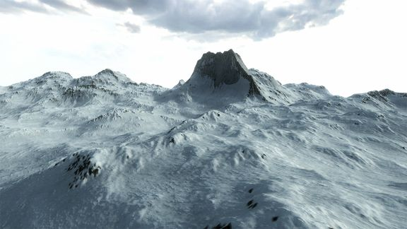 Procedural Winter Mountains in Unity