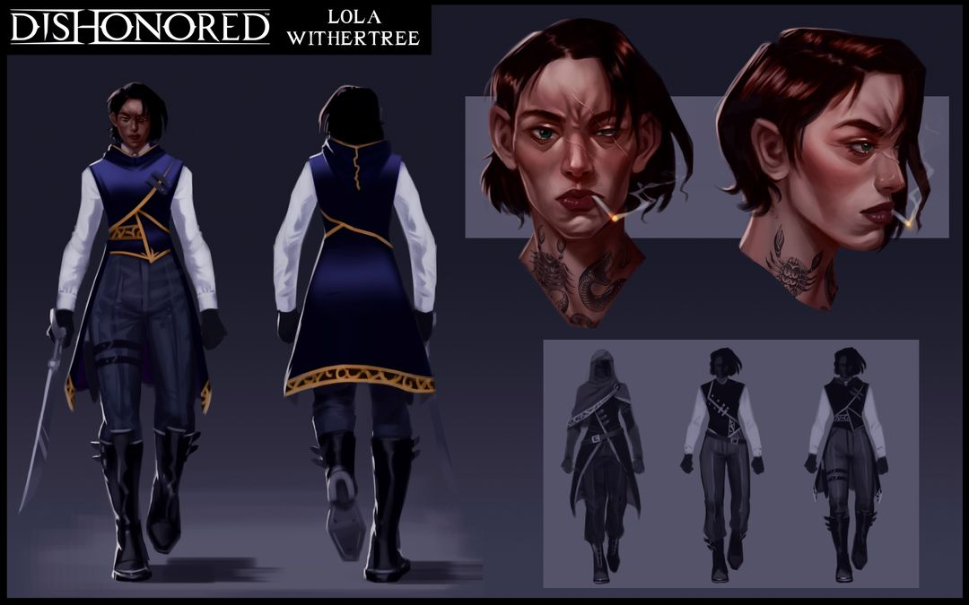 Dishonored Inspired OC Lola Withertree   Dishonored Concept Art jpg