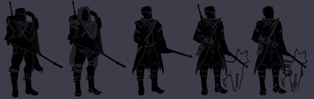 Snooper Boi - Concept Art Defensive Faction Silhouettes jpg