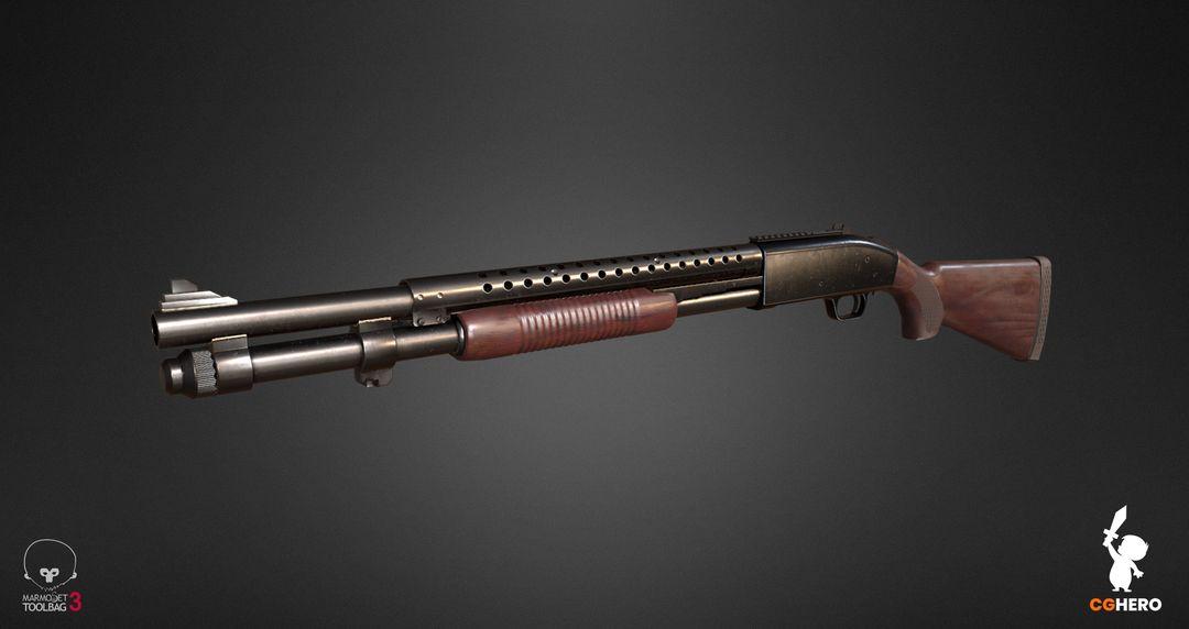 Shotgun PBR Texturing Study shotgun marmoset toolbag 01 jpg