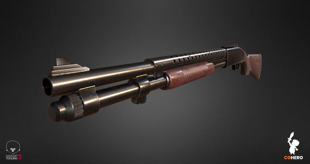Shotgun PBR Texturing Study shotgun marmoset toolbag 02 jpg