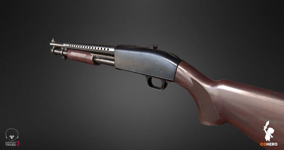 Shotgun PBR Texturing Study shotgun marmoset toolbag 03 jpg