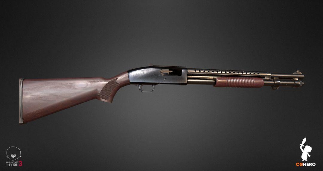 Shotgun PBR Texturing Study shotgun marmoset toolbag 04 jpg