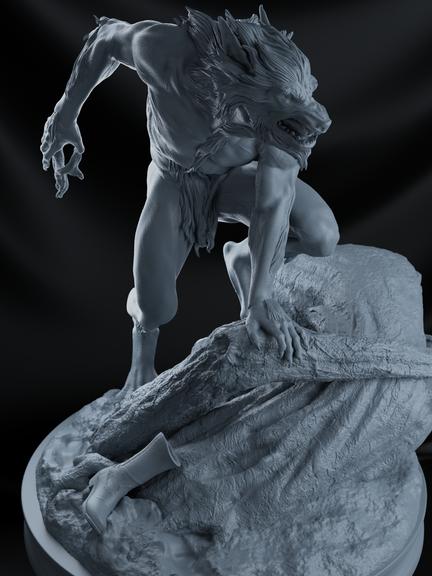 Werewolf-statue