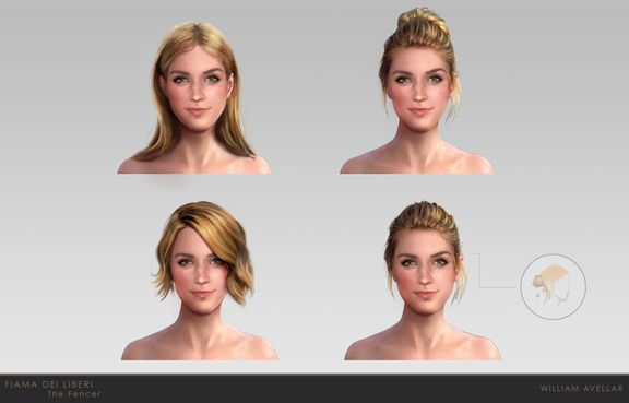 Fiama Dei Liberi - Hair and detail variation