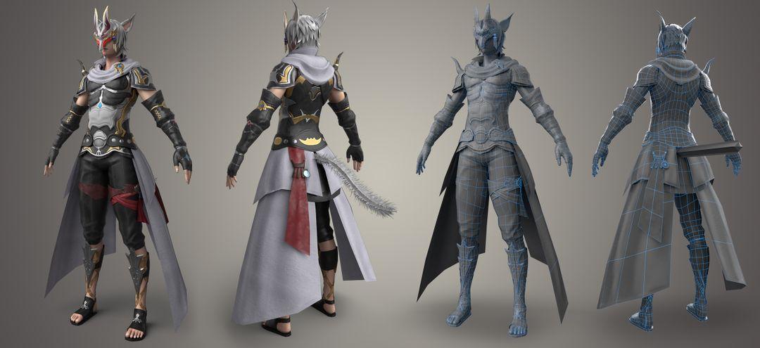 Game characters Final Fantasy warrior jpg
