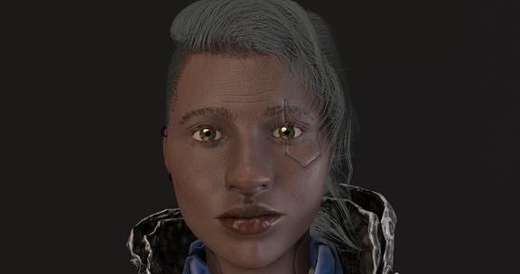 Retro Sci-fi Game Project - NPC Woman Character
