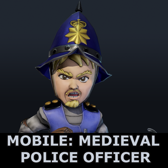 Mobile Character: Medieval Police Officer