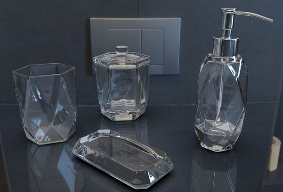 Faceted Glass Ware Set