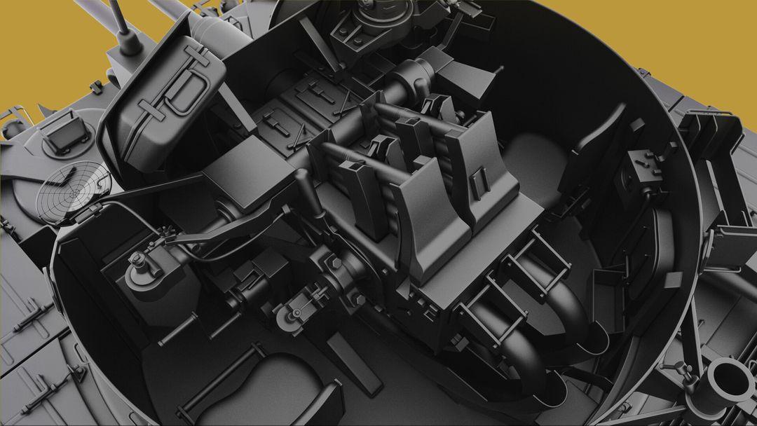 M42 Duster 40mm Self-Propelled Anti-Aircraft Gun - Highpoly irfan haider render 12 m42 duster irfanhaider art3d7 jpg