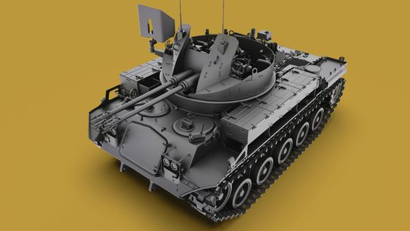 M42 Duster 40mm Self-Propelled Anti-Aircraft Gun - Highpoly