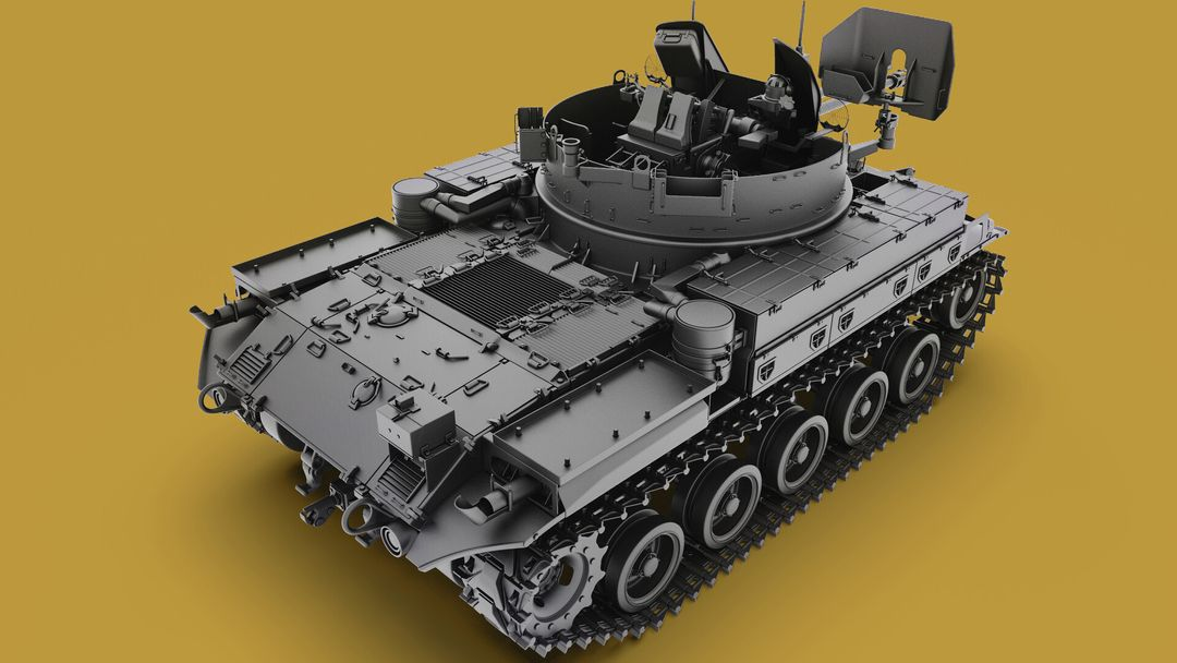 M42 Duster 40mm Self-Propelled Anti-Aircraft Gun - Highpoly irfan haider render 16 m42 duster irfanhaider art3d7 jpg
