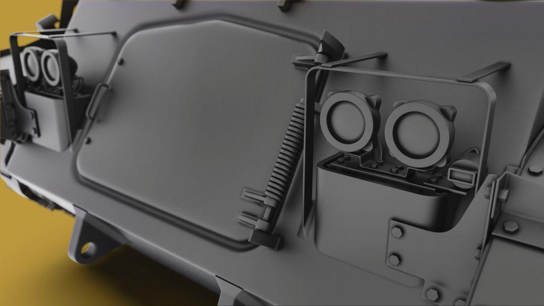 M42 Duster 40mm Self-Propelled Anti-Aircraft Gun - Highpoly irfan haider render 6 m42 duster irfanhaider art3d7 jpg
