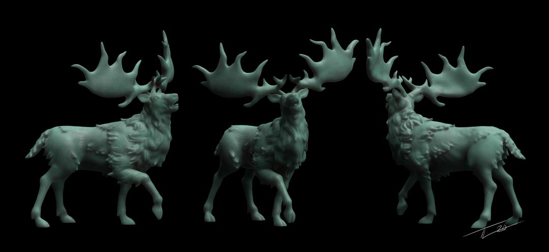 Irish Elk Mini IrishElkTurn png