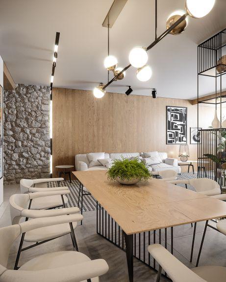 3D Modeling of Living room / Kitchen