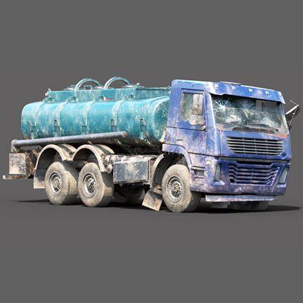 Abandoned Lowpoly Cistern Tank Truck 3D Model thumbnail1 jpg