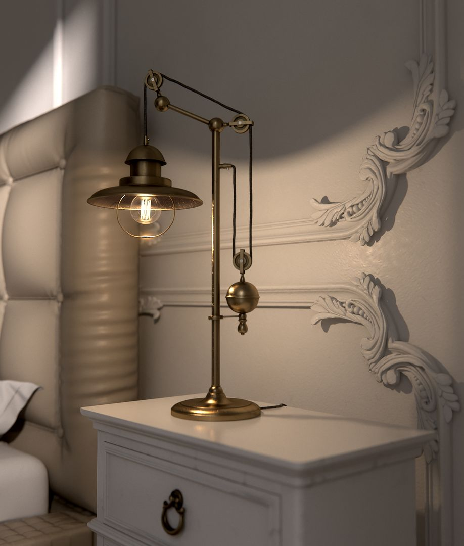 Hard-surface and props modeling in high quality LampClose2 jpg