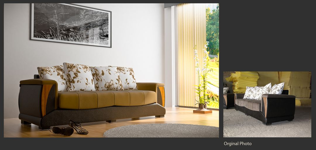 Realistic Product Presentation Sofa jpg