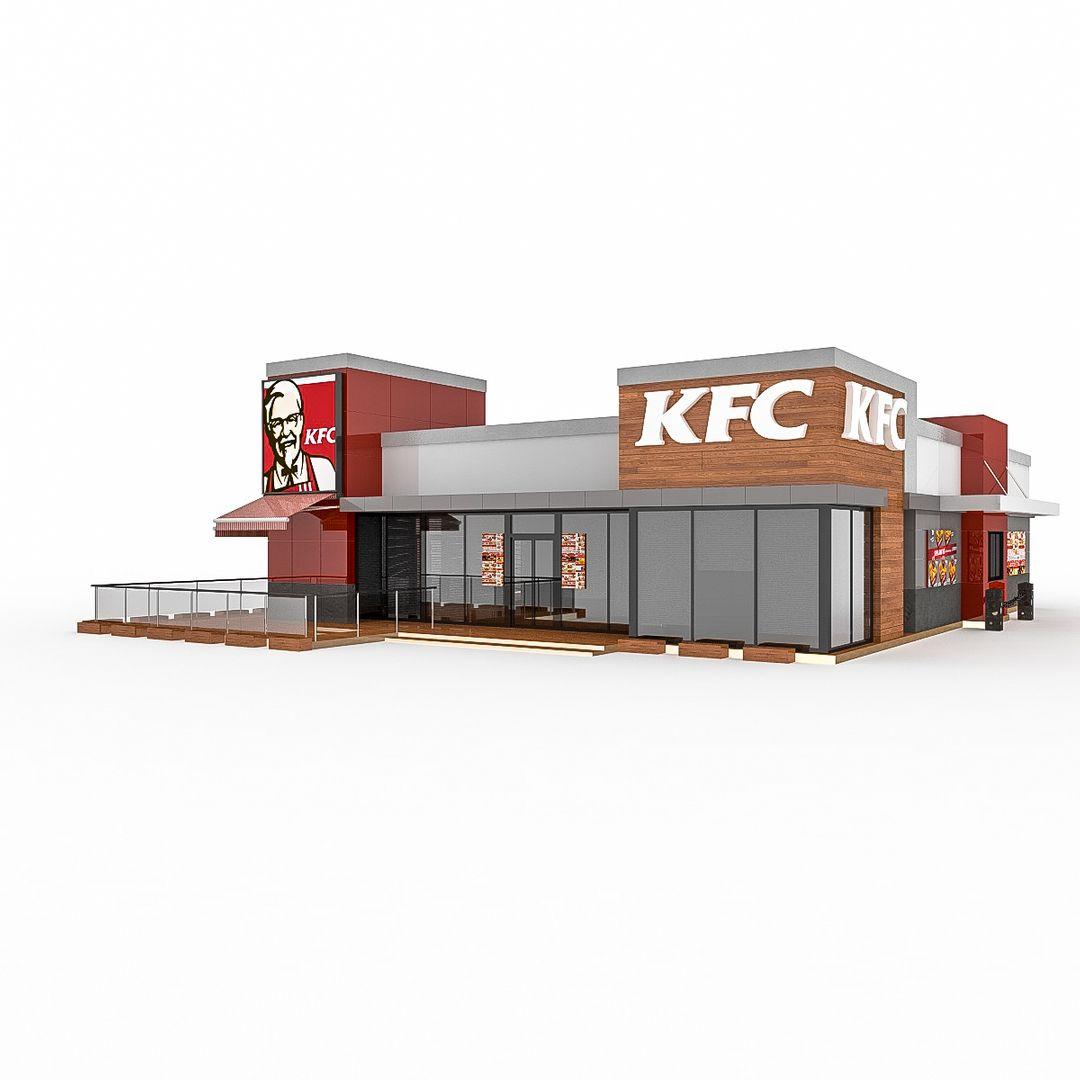 Fast Food Restaurant 3D Modeling KFC 2 6 jpg