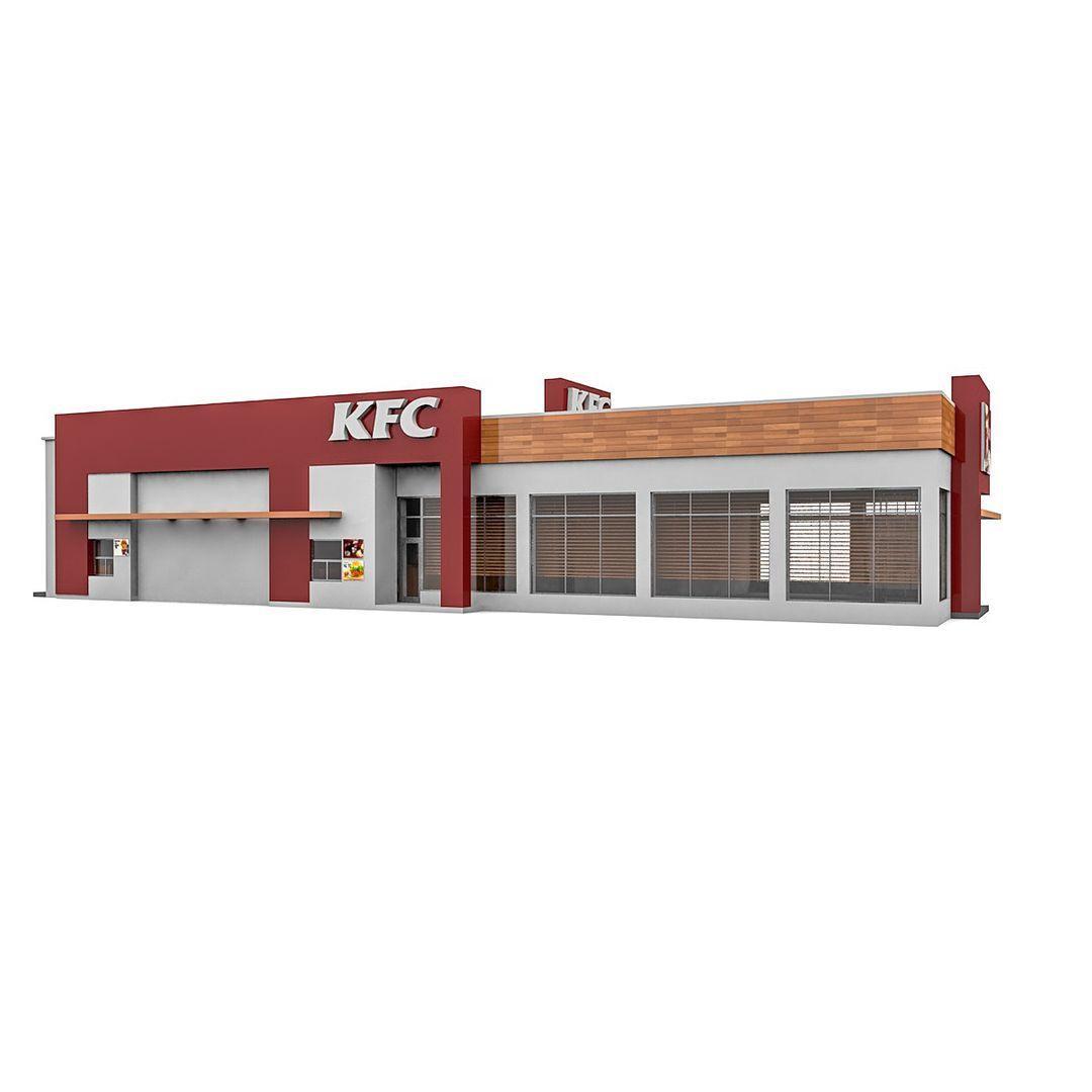 Fast Food Restaurant 3D Modeling KFC R17 3 jpg