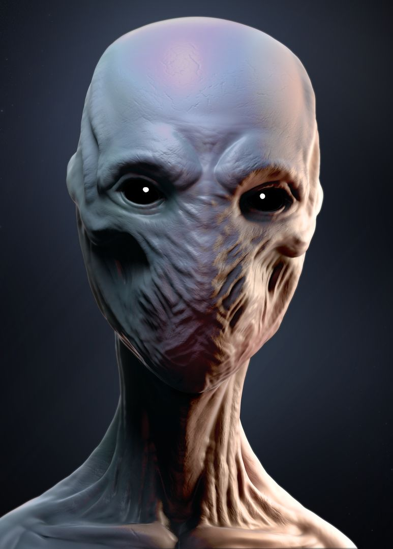 3D Character modeling and Sculpting 33 Creature mouthless jpg