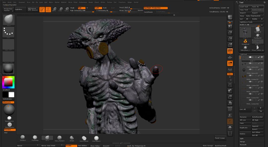 Alien Found Footage ZBRUSH jpg